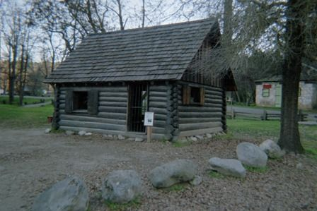 Coloma Mormon Cabin at the Marshall Gold Discovery SHP