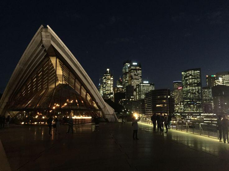 Sydney/Circular Quay and the Bennelong restaurant of the Sydney Opera House.