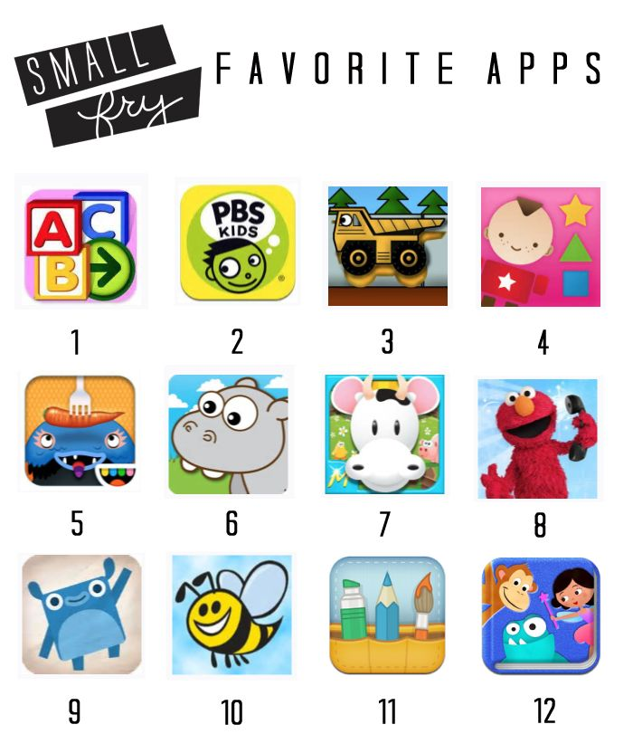 Small Fry Favorite Apps | for kids