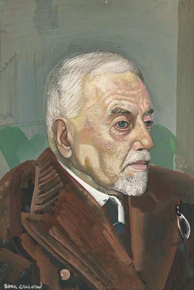 Boris Grigoriev - RUSSIAN, 1886-1939 PORTRAIT OF MAN: