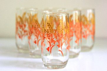 Vintage Autumn Branch Glasses by Wise Apple modern everyday glassware
