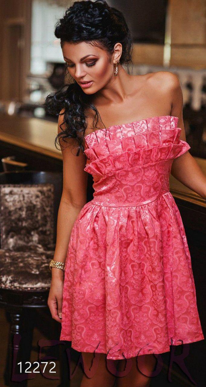 Шикарное платье - бюстье из жаккарда - купить оптом и в розницу, интернет-магазин женской одежды lewoor.com