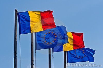 Romanian Flag Day- 26th June- © Razvan Nicolescu | Dreamstime.com- Romanian and EU flag are always seen together since Romania became a member of EU. Lovely sight!