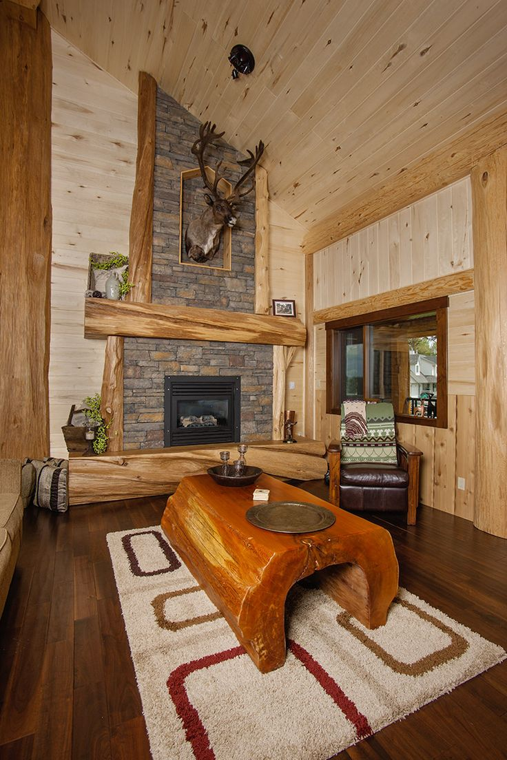 161 best our homes images on pinterest log cabins log houses a beautiful shot of the living room and handcrafted log table from pioneer log homes