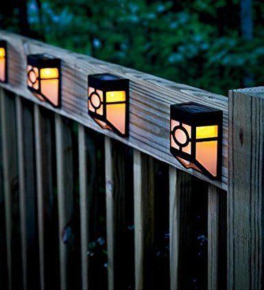 warm light xlux solar powered lights for house outdoor landscape garden fence lamp soft white 2 pack patio lawn u0026 garden