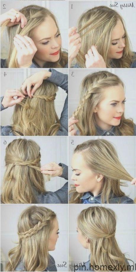 De jolies coiffures rapides pour cheveux mi-longs #flechtfrisuren # cheveux longs