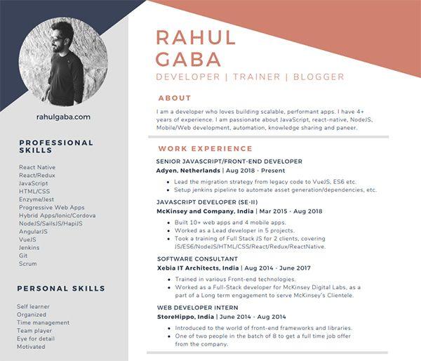 Free React Developer Resume Samples Professional Resume Templates Resume Templates Resume Template Professional Resume