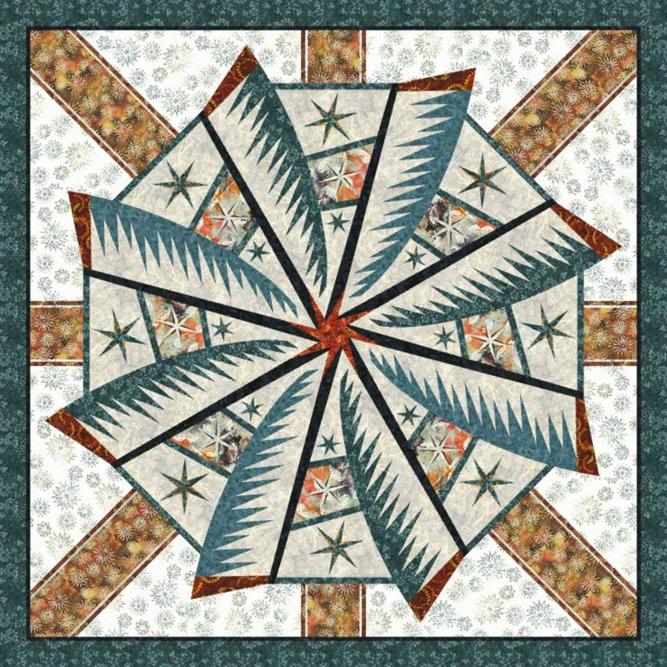 Check out this original color-way designed by Judel N. Sign up to create your own unique colorway of Weathered Windmill by Quiltworx.com (fabrics, Copper by Judel and Judy Niemeyer with Timeless Treasures) at www.quiltster.com