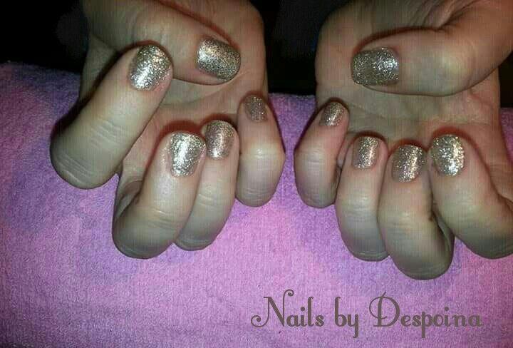 Gold nails, Christmas