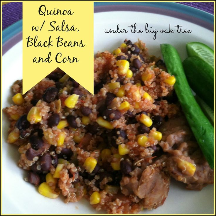 Quinoa with Salsa, Black Beans and Corn Weight Watchers Simply Filling ...