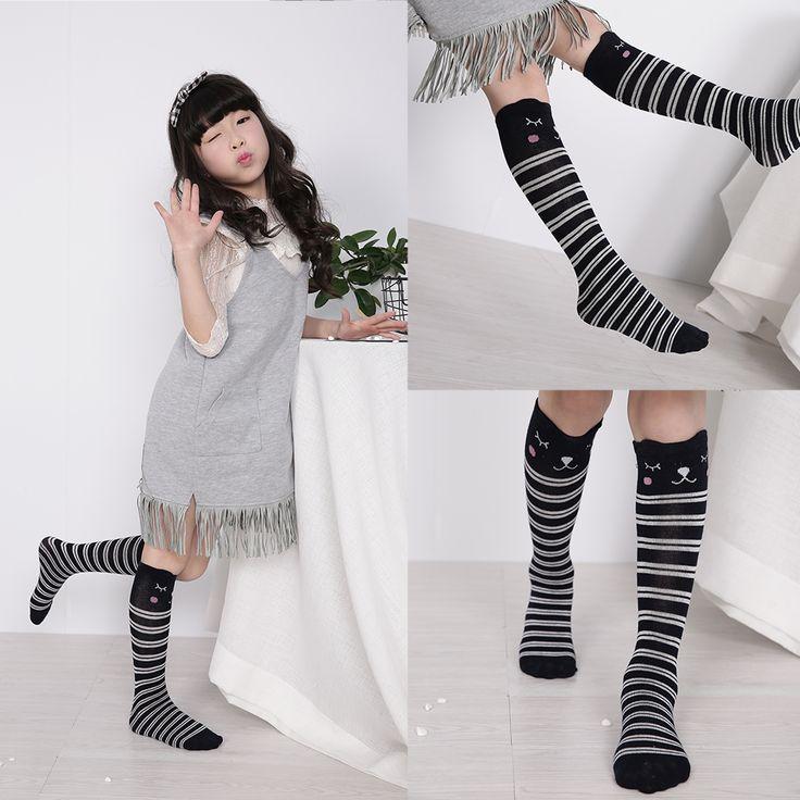 >> Click to Buy << Kids Long Socks Knee High toddler Girls Boot Sock Leg Warmer Cute Cat Black baby Cotton Sock for baby girls sloth socks #Affiliate