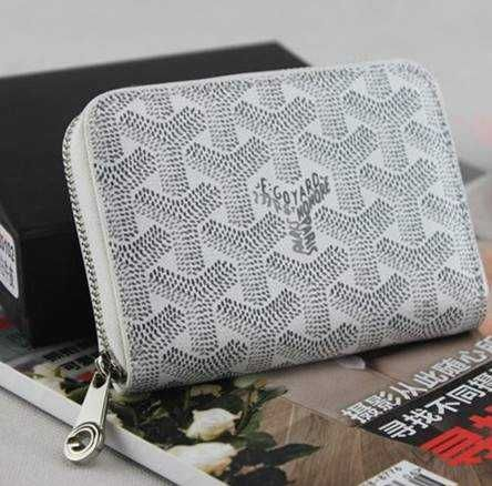 Goyard Short Wallet White