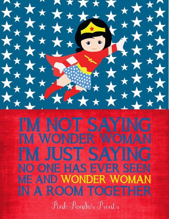 Wonder Woman Sterne rot weiß und blau von PinkPandasPrints auf Etsy
