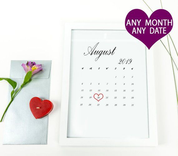 August 2019 Baby Due Date Announcement Printable Calendar Pregnancy