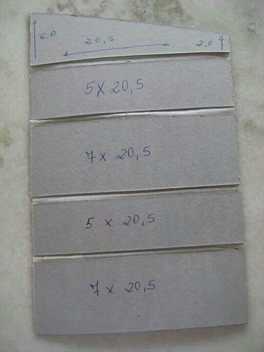 Estojo escolar em cartonagem (medidas)
