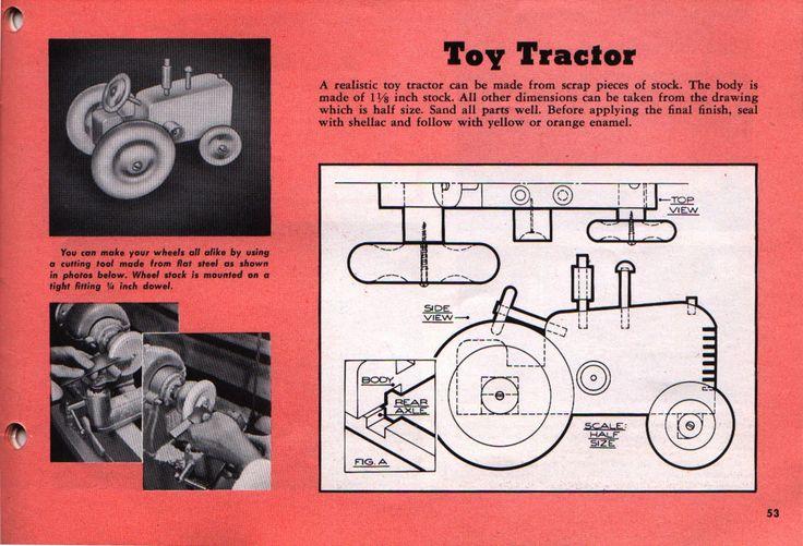 vintage wood toy plans - Google Search