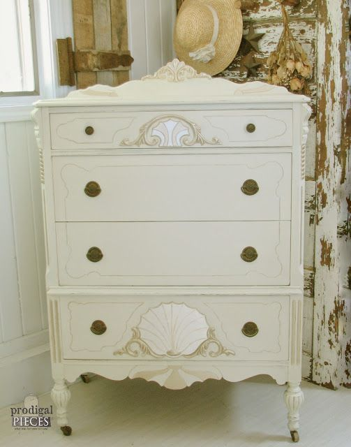 Antique French Highboy Chest of Drawers Gets a Glam Makeover by Prodigal Pieces www.prodigalpieces.com