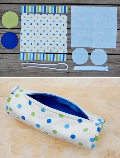 DIY: pencil case. It looks cute but complicated.