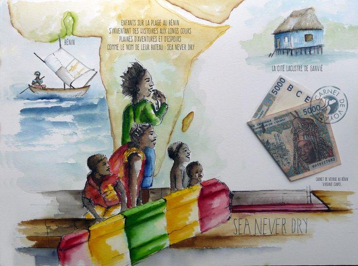 Croquis d'enfants au Bénin