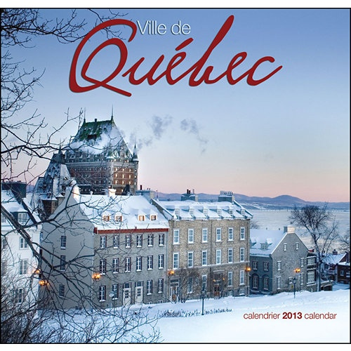 Quebec City Wall Calendar: This is the only walled city in North America—touring the old section is like dropping into the 1700's. Ville de Quebec provides thirteen beautifully shot images of this breathtaking city on the St. Lawrence. Enjoy the seasons of Quebec City in this wonderful calendar.  http://www.calendars.com/Canada/Quebec-City-(French)-2013-Wall-Calendar/prod201300003177/?categoryId=cat00704=cat00704#