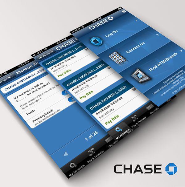Chase App on Behance
