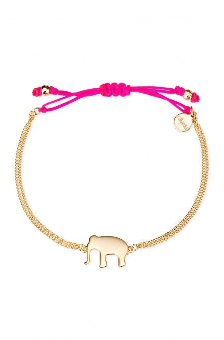 Your good luck charm is always at your side with this elephant bracelet from Stella & Dot. The gold cord Wishing Bracelet is perfect dressed up or toned down.