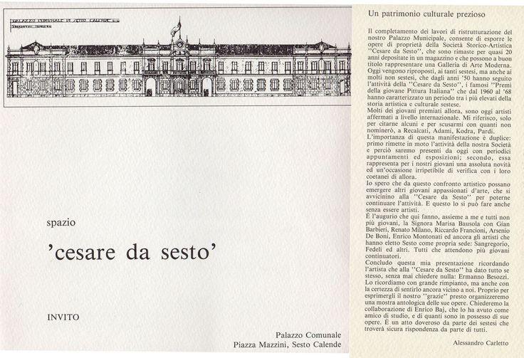1992 Pieghevole mostra Spazio Cesare da Sesto Sesto Calende