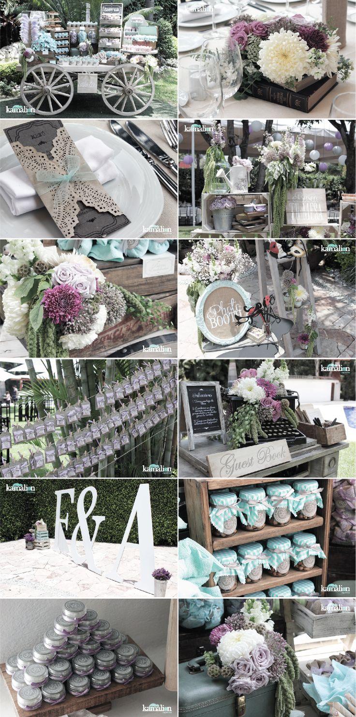 www.kamalion.com.mx - Wedding / Boda / Vintage / Menta & Lavanda / Mint & Lavander / Decor / Centerpiece / Candy Bar / Flores / Photobooth.