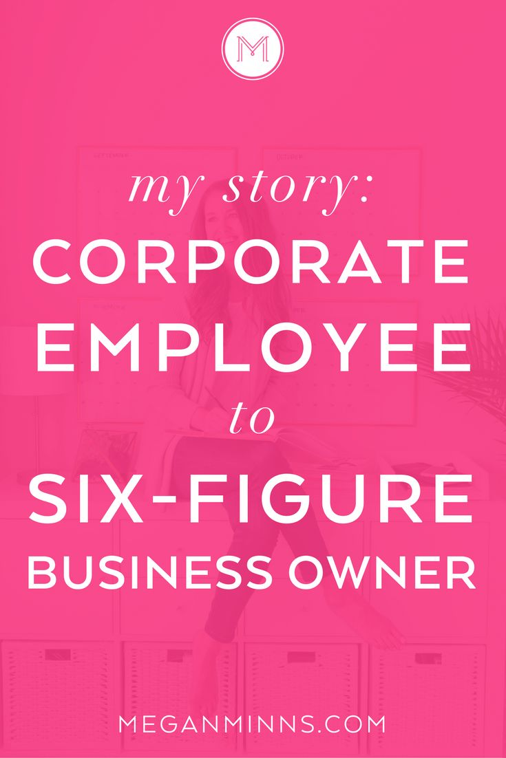 Want to know my business story? I'm sharing how I went from a corporate employee to a six-figure business owner and all of the changes and lessons that happened along the way.