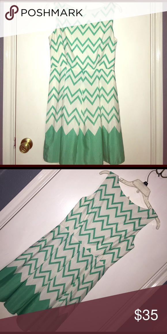Mint chevron dress Sleeveless chevron dress with side zipper, a line skirt. Fits women's dress sz 4/6. Bought on Lulus.com and never worn lulus Dresses Mini