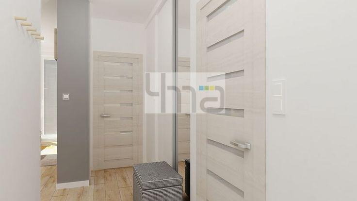 Dwupokojowe mieszkanie 48 m2 zaprojektowane dla młodej pary - http://4ma-projekt.pl