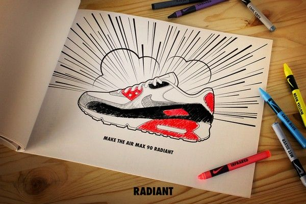 Sketch Air max 90 - Matt Stevens x Nike #AIRMAX Series | Shoe Illustrations  | Pinterest | Air max 90 and Air max