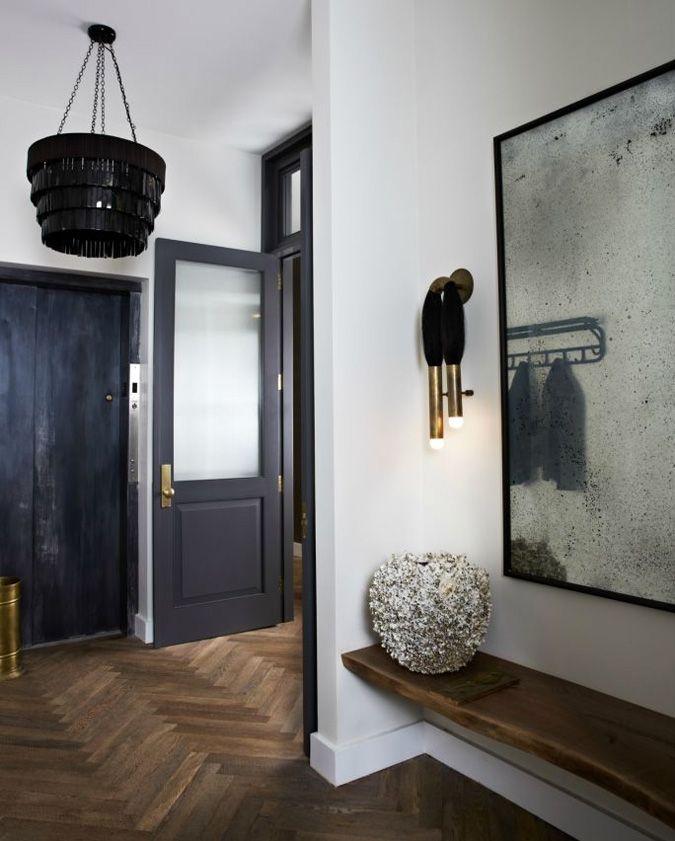 Touches of black, antique mirror, floors