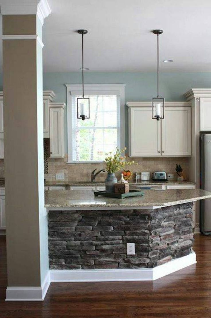 Zimmer im traditionellen stil kitchen designs with island from stone like the pillar the stone