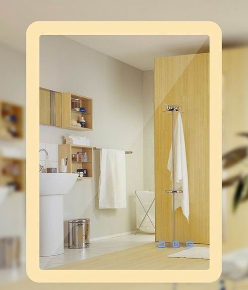 New Design Bathroom Smart Led Mirror With Bluetooth Radio And Clock Factory Suppliers China