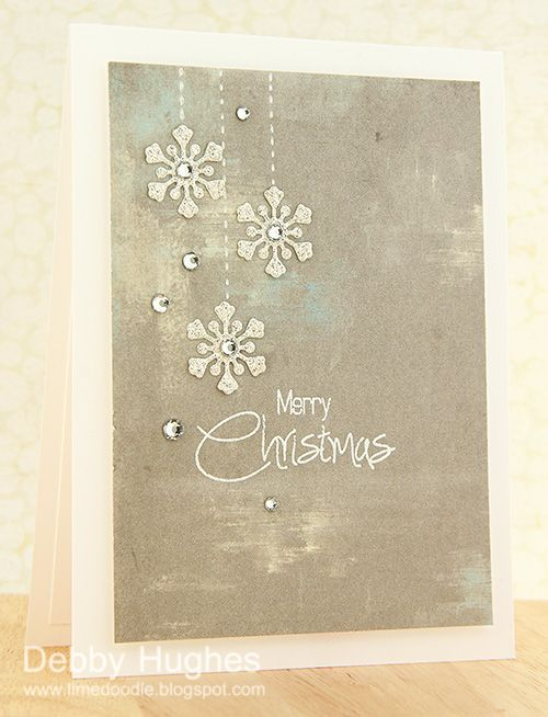 limedoodle, Clearly Besotted Stamps, Christmas, Card | Supplies: Stamps – Clearly Besotted Stamps signature christmas; Inks – Versafine; Card – Neenah solar white; Paper – Authentique fresh; Dies – Papertrey Ink winter penguin; Stampin' Up rhinestones; White gel pen