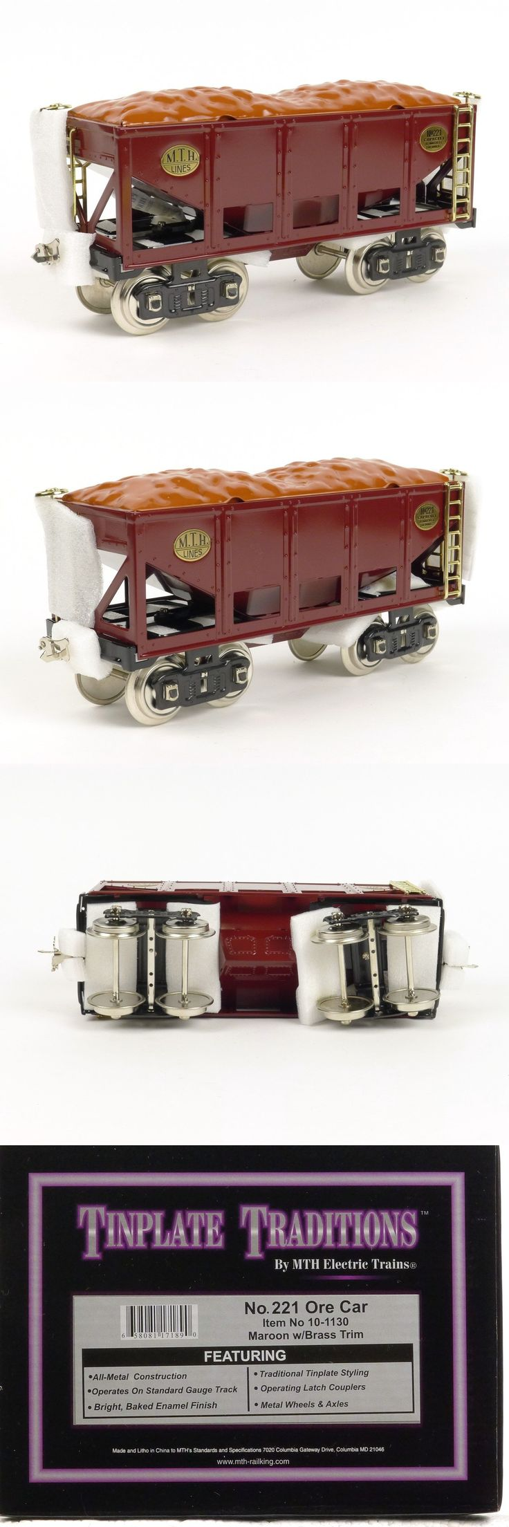 Freight Cars 180326: Mth Tinplate Traditions 10-1130 Ore Car No 221 Standard Gauge Model Trains -> BUY IT NOW ONLY: $109.95 on eBay!