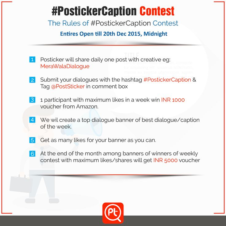 ‪#‎PostickerCaption‬ ‪#‎Contest‬ The Rules of #PostickerCaption Contest. Entries open till 20th Dec 2015, Midnight. Stay tuned and watch this space.