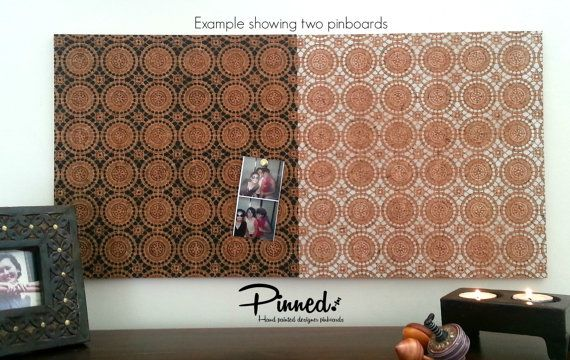 Lace design pinboard Moroccan hand painted cork board by pinnednz #pinboard #corkboard #lace #moroccan #bedroom #deskinspo #inspiration http://binaryoptions360review.com/