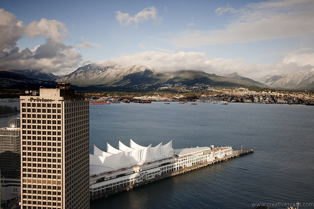 North Shore Mountains from Downtown Vancouver - Mountain Scenes