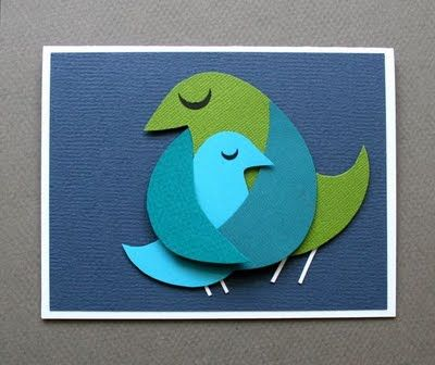make momma bird cards - so simple and sweet...