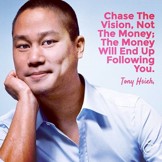 Chase the vision, not the money! #entrepreneurquotes #startup #success #money
