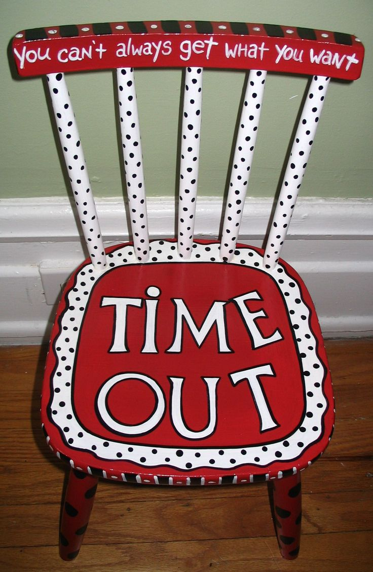 Time Out Chair. I want to make one of these. Just boy colors
