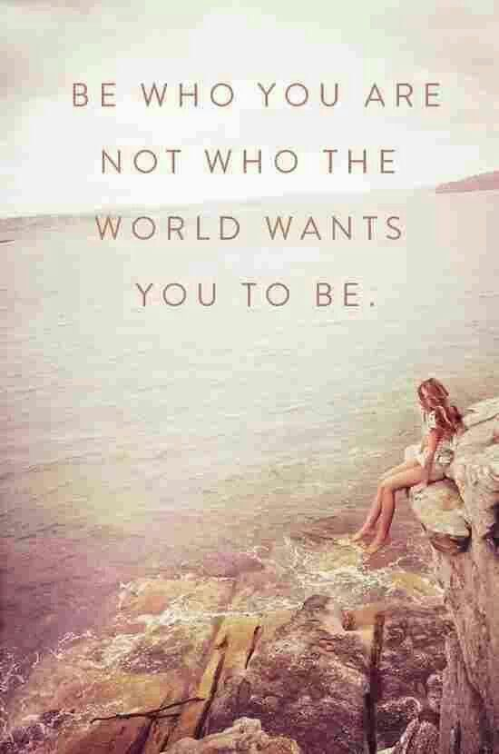 Be who you are! You are a unique individual who is worth the world ♥ #inspiration