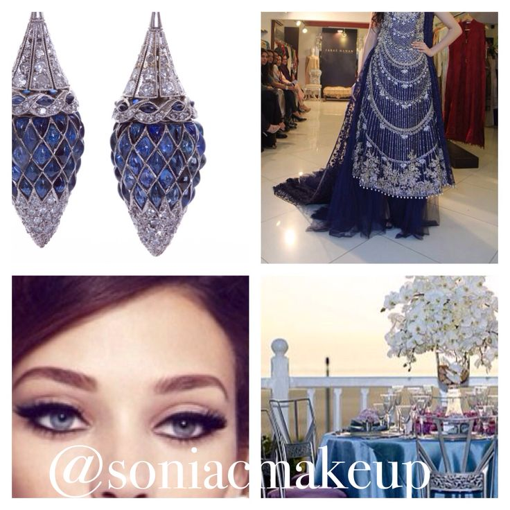 Navy Blue Inspiration! Sonia C on Facebook, Soniacmakeup on Instagram, www.soniacollection.com