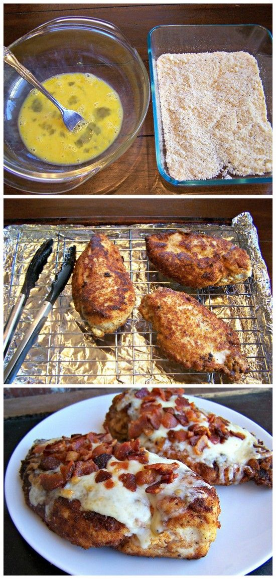 Parmesan Crusted Chicken with Bacon