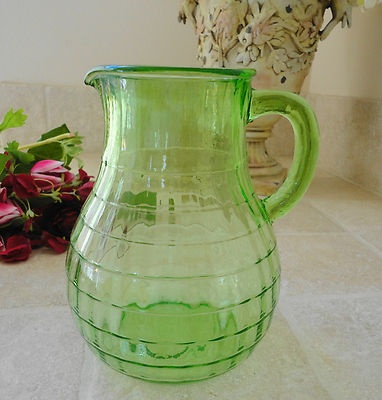 1000 images about depression glass green on for Glass block options