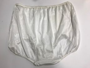 01b80c61ca1f (2) VENTURA Plus Size Nylon & Lace Brief Panties Size 14 / 7X BLACK & WHITE    eBay