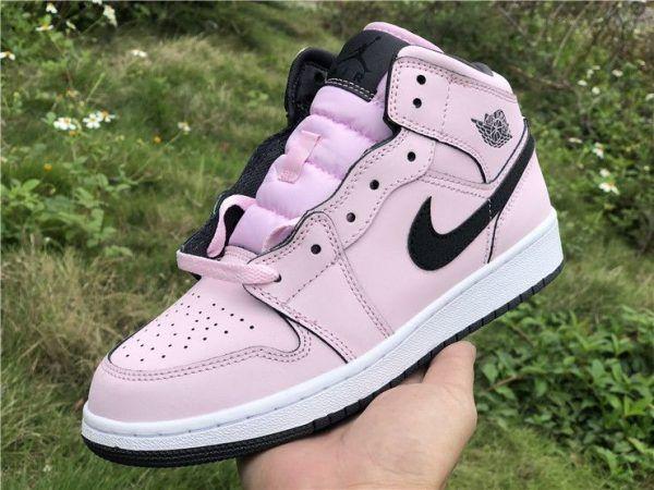 GS Jordan AJ 1 Mid Pink Foam Girls