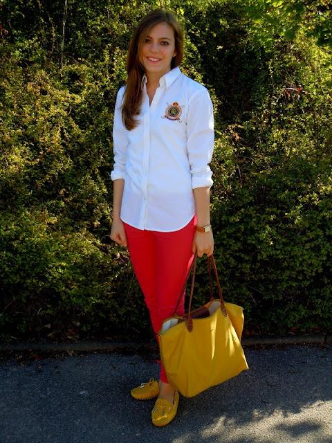 yellow Longchamp